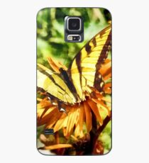 Tiger Swallowtail on Yellow Wildflower Case/Skin for Samsung Galaxy