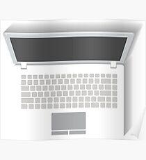 White Laptop Poster