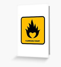 Flammable Heart Greeting Card