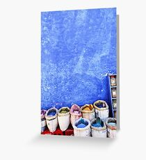 Spices against the Chefchaouen Blue Greeting Card