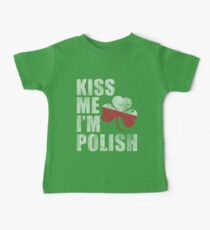 Kiss Me I'm Polish St Patrick's Day Kids Clothes
