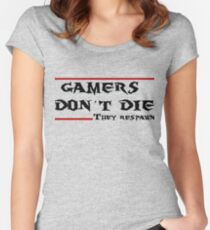 Gamers don't die..they Respawn Women's Fitted Scoop T-Shirt