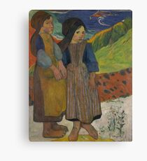Paul Gauguin - Two Breton Girls by the Sea  Canvas Print