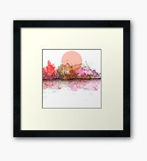 An Unusual Sunset Framed Print