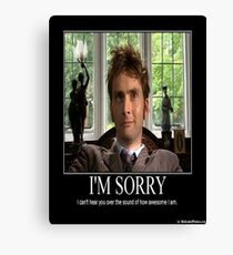 Doctor Who Awesome David Tennent Canvas Print