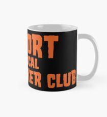 Unterstützen Sie Ihren lokalen Greasy Biker Club Black & Orange Tasse