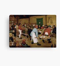 Pieter Bruegel the Elder - Peasant Wedding 1569 Canvas Print