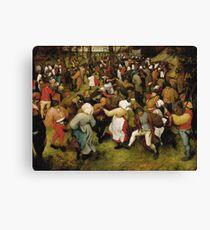 Pieter Bruegel the Elder - The Wedding Dance Canvas Print