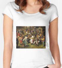 Pieter Bruegel the Elder - The Wedding Dance Women's Fitted Scoop T-Shirt