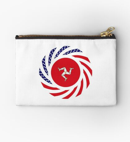Manx American Multinational Patriot Flag Series Zipper Pouch