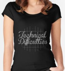 Technical Difficulties Women's Fitted Scoop T-Shirt