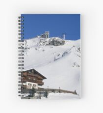 The hotel on the piste Spiral Notebook