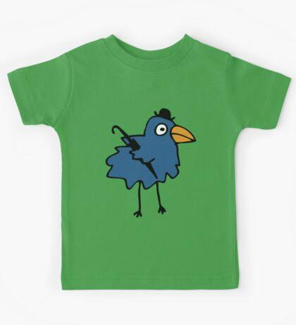 Business Bird - Blue - cute bird pattern by Cecca Designs Kids Clothes