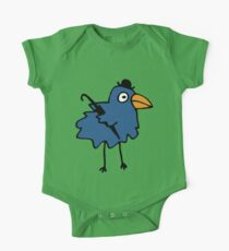 Business Bird - Blue One Piece - Short Sleeve