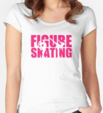 Figure skating Women's Fitted Scoop T-Shirt