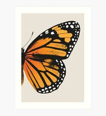 Monarch Butterfly | Right Wing Art Print