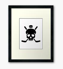 Hockey skull Framed Print