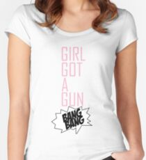 TOKIO HOTEL - GIRL GOT A GUN Women's Fitted Scoop T-Shirt