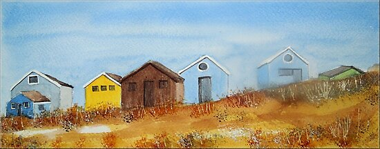Beach Huts - Mudeford Spit  by FrancesArt