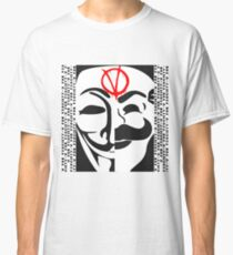 V for FSociety Classic T-Shirt