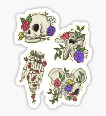 Flowery bones Set Sticker