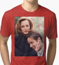 dana scully x files fox mulder Tri-blend T-Shirt