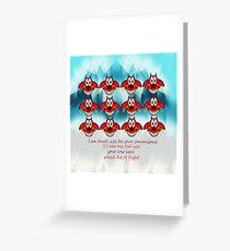 mushu emoji Greeting Card
