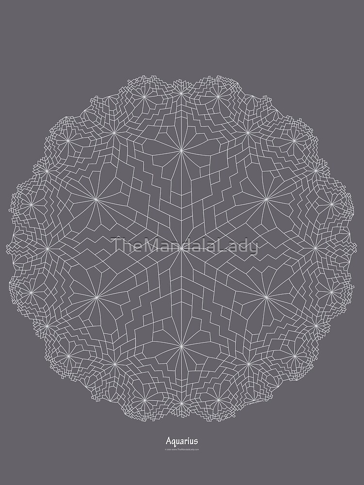 Aquarius [white design] by TheMandalaLady