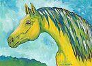 Green Horse by Juhan Rodrik