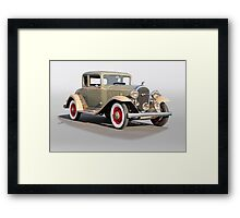 1932 Buick 96 S Coupe '3Q Pass Side' Framed Print