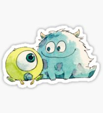 Drawing of Mike Wazowski and Sullivan Sticker