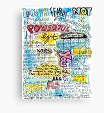 "Marianne Williamson Quote - ""Our deepest fear is not that we are inadequate"" Canvas Print"