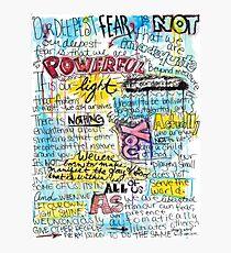 """Lámina fotográfica Cita de Marianne Williamson - """"Nuestro miedo más profundo no es que somos inadecuados"""""""