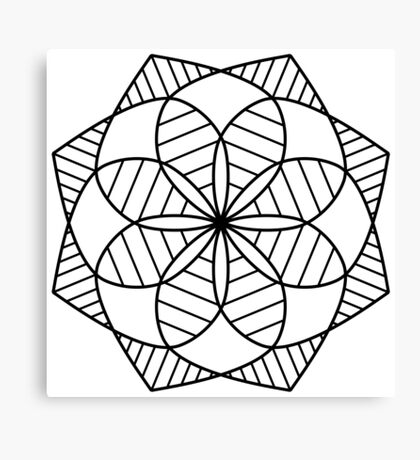 Kaleidoscope Mandala Canvas Print