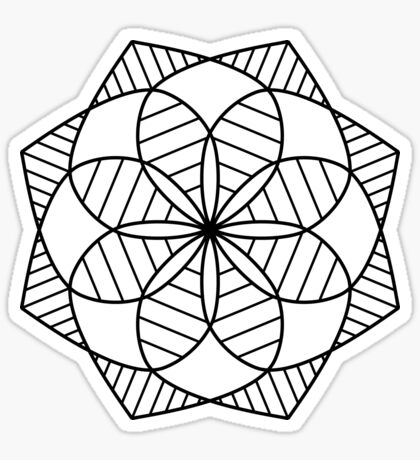 Kaleidoscope Mandala Sticker