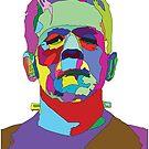 Frankensteiner Sticker by Randy Monteith