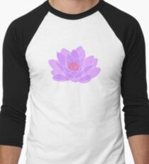 Purple Water Lily Men's Baseball ¾ T-Shirt