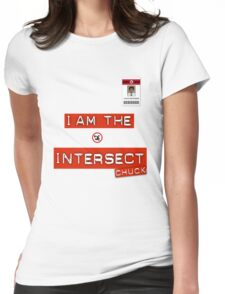 """Chuck """"I Am the Intersect""""  Womens Fitted T-Shirt"""