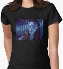 Zoe Saldana as Neytiri in Avatar Women's Fitted T-Shirt