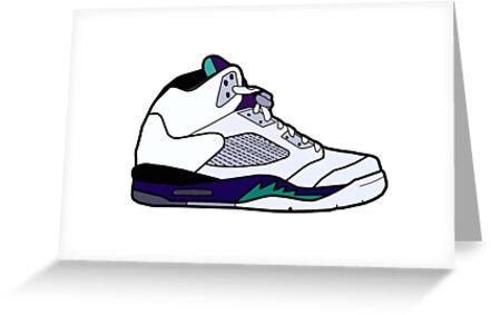 Jordan 5 retro grape shoes greeting cards by theteeshirtguy redbubble jordan 5 retro grape shoes by theteeshirtguy m4hsunfo