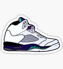 Jordan 5 Retro Grape Shoes Sticker