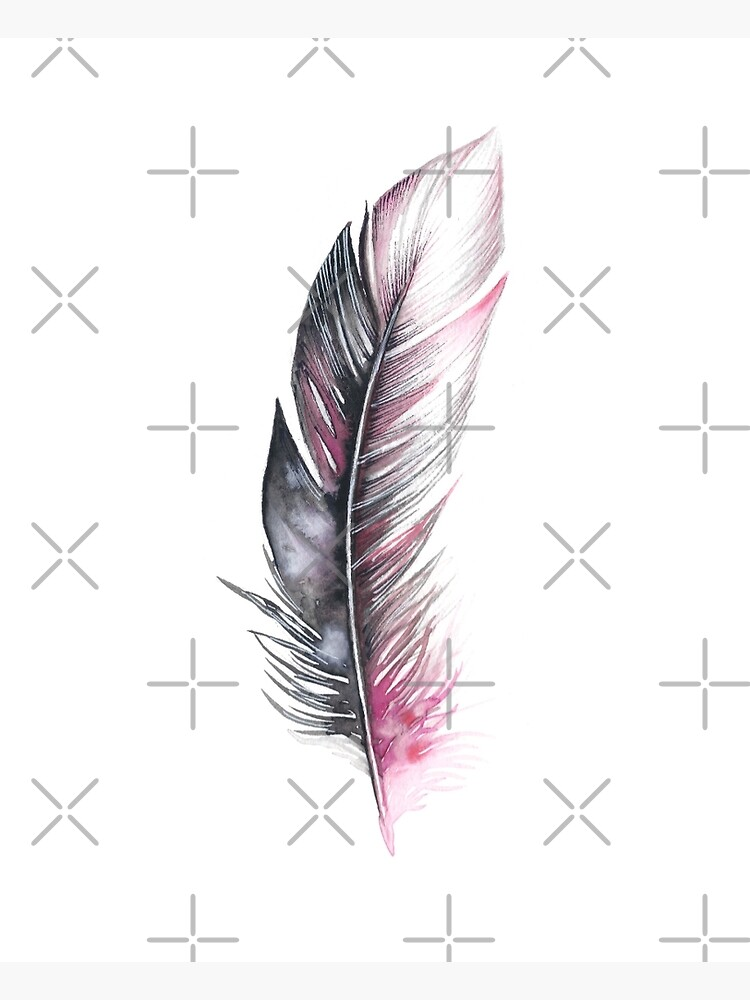 Watercolor Feather Art by willowheath