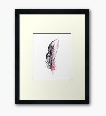 Watercolor Feather Art Framed Print