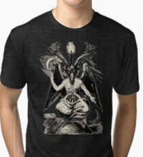 Camiseta de tejido mixto Baphomet