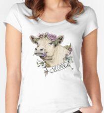 Daisy Vegan Women's Fitted Scoop T-Shirt