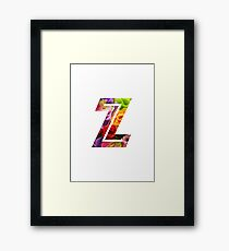 The Letter Z - Flowers Framed Print