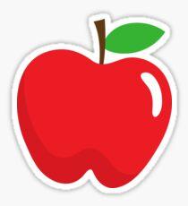 Red apple sticker Sticker