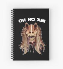 Oh No Ani - Dead Jar Jar Spiral Notebook