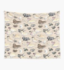 Pugs on the Run! Wall Tapestry