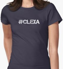 #CLEXA (White Text) Womens Fitted T-Shirt